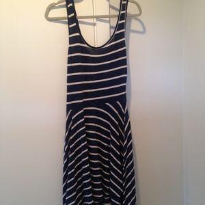 Lush Blue / White Stripe Short Casual Dress